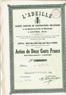 59-ABEILLE. L' ABEILLE. LOUVROIL. Nord. DECO. Cap 2,5MF - Actions & Titres