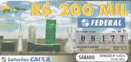Brasil - 2010 - 05/06 DIA MUNDIAL DO MEIO AMBIENTE - Billetes De Lotería