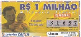 Brasil - 2010 - 8 DE AGOSTO - DIA DOS PAIS - Billetes De Lotería