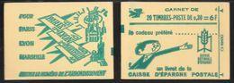 Carnet 1536A-C1 Marianne De Cheffer 0.30 Vert Couverture Epargne Postale Conf 6 - Markenheftchen