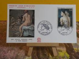 Historique. Ingres,La Petite Baigneuse - 82 Montauban - 9.9.1967 FDC 1er Jour N°614 - Coté 7€ - FDC