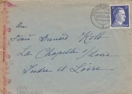 Env Affr Michel 793 Obl STRASSBURG (ELS) 3 Du 9.11.42 Adressée à La Chapelle Sous Loire - 2. Weltkrieg 1939-1945