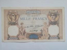 FRANCIA 1000 FRANCS 1930 - 1 000 F 1927-1940 ''Cérès Et Mercure''