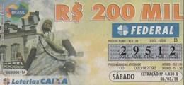 Brasil - 2010 - SALVADOR - BA - Billetes De Lotería