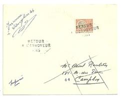 LOIRE ATLANTIQUE - Dépt N° 44 = CAMPBON 1967 = RETOUR ENVOYEUR N° 7467 Sur Préo N° 124 + Cachet A8 - Manual Postmarks