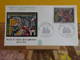 Historique. Saint Éloi église Sainte Madeleine - 10 Troyes - 7.10.1967 FDC 1er Jour N°616 - Coté 4€ - 1960-1969