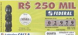 Brasil - 2010 - MUSEU NACIONAL DE BELAS ARTES - O PEDIENTE 1961 AGNALDO DOS SANTOS - Billetes De Lotería