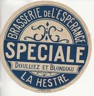 """Brasserie De L'Espérence,La Hestre-Etiquette Bierre """"Spéciale"""" - Bière"""