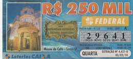 Brasil - 2010 - MUSEU DO CAFE - SANTOS - SP - Billetes De Lotería