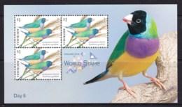 Australia 2018 Thailand Show Day 6 Gouldian Finch Bird Minisheet MNH - Mint Stamps