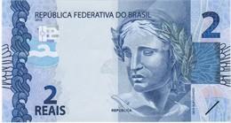 Brazil - Pick 252c - 2 Reais 2010 - Unc - Brasile