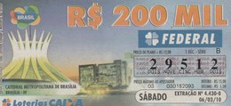 Brasil - 2010 - CATEDRAL METROPOLITANA DE BRASILIA - BRASILIA - DF - Billetes De Lotería