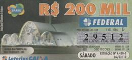 Brasil - 2010 - IGREJA DA PAMPULHA - BELO HORIZONTE - MG - Billetes De Lotería