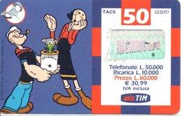 GSM Carte Prépayée Italie Italia Popeye BD Cinéma Phonecard  (G 91) - Italie