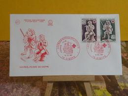 Historique.La Croix Rouge Et La Poste - 76 Dieppe - 16.12.1967 FDC 1er Jour N°623 - Coté 4€ - FDC