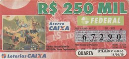 Brasil - 2010 - OBRA: INCONFIDENCIA - AUTORA: YARA TUPINAMBA - Billetes De Lotería