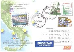 LETTERA PUBBLICITARIA RICCIONE 2006 DA ROMANIA A X ITALIA - 1948-.... Repubbliche