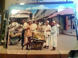 TANZANIA - FRUIT SELLER STALL ZANZIBAR MARKET STREET ANIME V1967 HA7660 - Tanzania