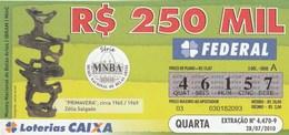Brasil - 2010 - MUSEU NACIONAL DE BELAS ARTES - PRIMAVERA, CIRCA 1965/1969 - ZELIA SALGADO - Billetes De Lotería