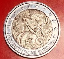 ITALIA - 2005 - Moneta - 1° Anniversario Della Firma Della Costituzione Europea - Europa Con Il Toro - Euro - 2.00 - Italy
