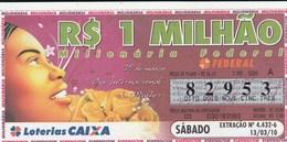 Brasil - 2010 - 08 DE MARÇO DIA INTERNACIONAL DA MULHER - Billetes De Lotería