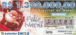 Brasil - 2010 - FELIZ NATAL - Billetes De Lotería