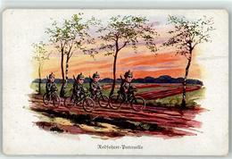 52923548 - Sign. Hoffmann Ad. Kind In Uniform Radfahrer-Patrouille - War 1914-18