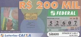 Brasil - 2010 - OBRA: OLEIRO 1984 - AUTORA: HASSIS - Billetes De Lotería