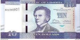 Liberia - Pick 32 - 10 Dollars 2016 - Unc - Liberia