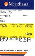 Carte D'embarquement Meridiana Italie Italia Card  (G 93) - Italië