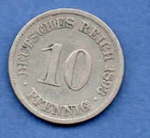 Allemagne -  10 Pfennig 1893 A - Km # 12 -- état  TB - [ 3] 1918-1933 : Republique De Weimar