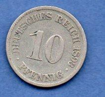 Allemagne -  10 Pfennig 1893 A - Km # 12 -- état  TB - [ 3] 1918-1933 : Weimar Republic