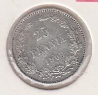 @Y@   FINLAND   25  Pennia 1909  Zilver / Ag     (2749) - Finlande