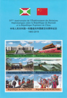 BURUNDI 2018 MNH Diplomatic Relations Between China And Burundi M/S - OFFICIAL ISSUE - DH1904 - Burundi