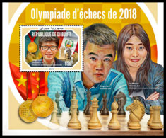 DJIBOUTI 2018 MNH Chess Olympiad Schach Olympiade De Echecs 2018 S/S - OFFICIAL ISSUE - DH1904 - Echecs