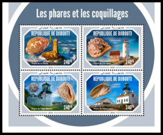 DJIBOUTI 2018 MNH Shells Muscheln Coquillages M/S - IMPERFORATED - DH1904 - Muscheln