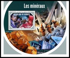 DJIBOUTI 2018 MNH Minerals Mineralien Mineraux S/S - IMPERFORATED - DH1904 - Mineralien