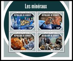 DJIBOUTI 2018 MNH Minerals Mineralien Mineraux M/S - IMPERFORATED - DH1904 - Mineralien