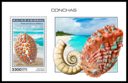 GUINEA BISSAU 2018 MNH Shells Muscheln Coquillages S/S - OFFICIAL ISSUE - DH1904 - Muscheln