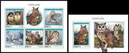 GUINEA BISSAU 2018 MNH Owls Eulen Hiboux M/S+S/S - OFFICIAL ISSUE - DH1904 - Eulenvögel