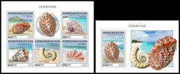 GUINEA BISSAU 2018 MNH Shells Muscheln Coquillages M/S+S/S - IMPERFORATED - DH1904 - Muscheln