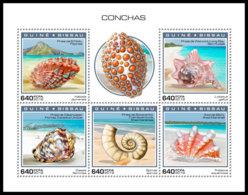 GUINEA BISSAU 2018 MNH Shells Muscheln Coquillages M/S - IMPERFORATED - DH1904 - Muscheln