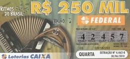 Brasil - 2010 - RITMOS DO BRASIL - BAIAO - Billetes De Lotería