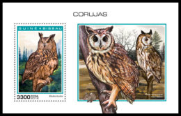 GUINEA BISSAU 2018 MNH Owls Eulen Hiboux S/S - IMPERFORATED - DH1904 - Eulenvögel