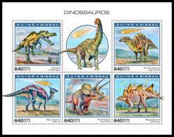 GUINEA BISSAU 2018 MNH Dinosaurs Dinosaurier Dinosaures M/S - IMPERFORATED - DH1904 - Briefmarken