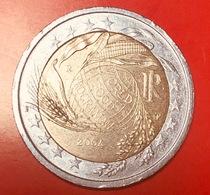 ITALIA - 2004 - Moneta - 50 Anni Del Programma Alimentare Mondiale - Globo - Spighe - Euro - 2.00 - Italy