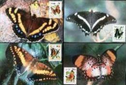 VENDA, 1990, Butterflies,  Mint Maxicards, Nr(s.) 90-93 - Venda