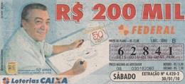 Brasil - 2010 - HOMENAGEM 50 ANOS CARREIRA DE MAURICIO DE SOUSA - Billetes De Lotería