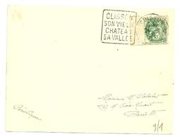 LOIRE ATLANTIQUE * - Dépt N° 44 = CLISSON 1929 ? = FLAMME DAGUIN (lettres De 4 Mm) 'SON VIEUX  / CHATEAU / Sa Vallée' - Marcophilie (Lettres)