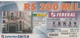 Brasil - 2010 - ARQUITECTURA DO BRASIL - EDIFICIO DUBEUX - Billetes De Lotería